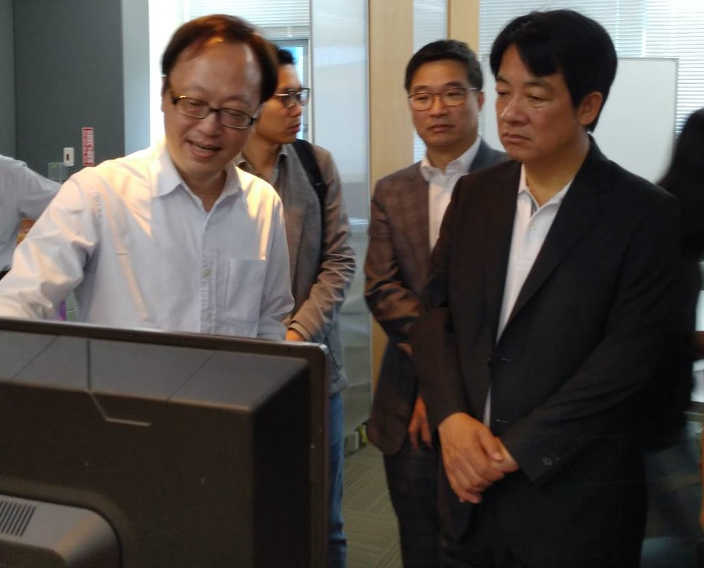Former Prime Minister of Taiwanese Government Lai Ching-te(Vice-President Elected in 2020) visited Ubestream and interacted with the founder (CEO) PhD Su Yu-min.